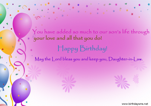 birthday greetings message for daughter in law ; af634b3d359643c213af88b7cb20df83