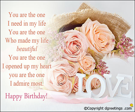 birthday greetings message for my wife ; 67a5fc57a9b69c5f590c3eb9211faeae
