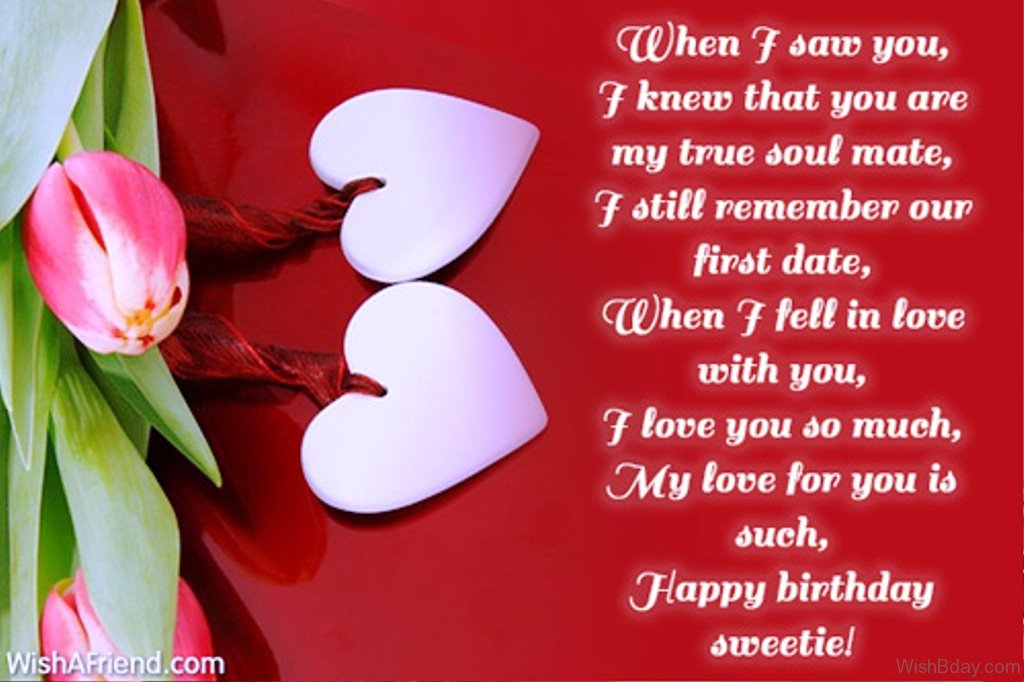 birthday greetings message for my wife ; When-I-Saw-You-I-Knew-That-You-Are-My-True-Soul-Mate