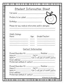birthday information sheet ; 95133fa8ca0082db86eb52ab580b0e75--on-the-first-day-first-day-of-school