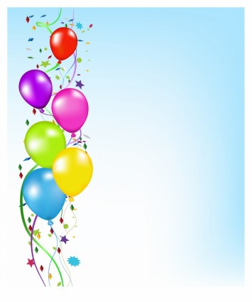 birthday invitation card background design ; party-balloons-background-239323