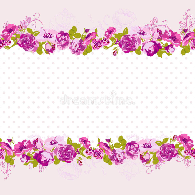 birthday invitation card background design ; seamless-border-blossom-roses-vector-floral-greeting-card-spring-background-wedding-birthday-invitation-design-41586446