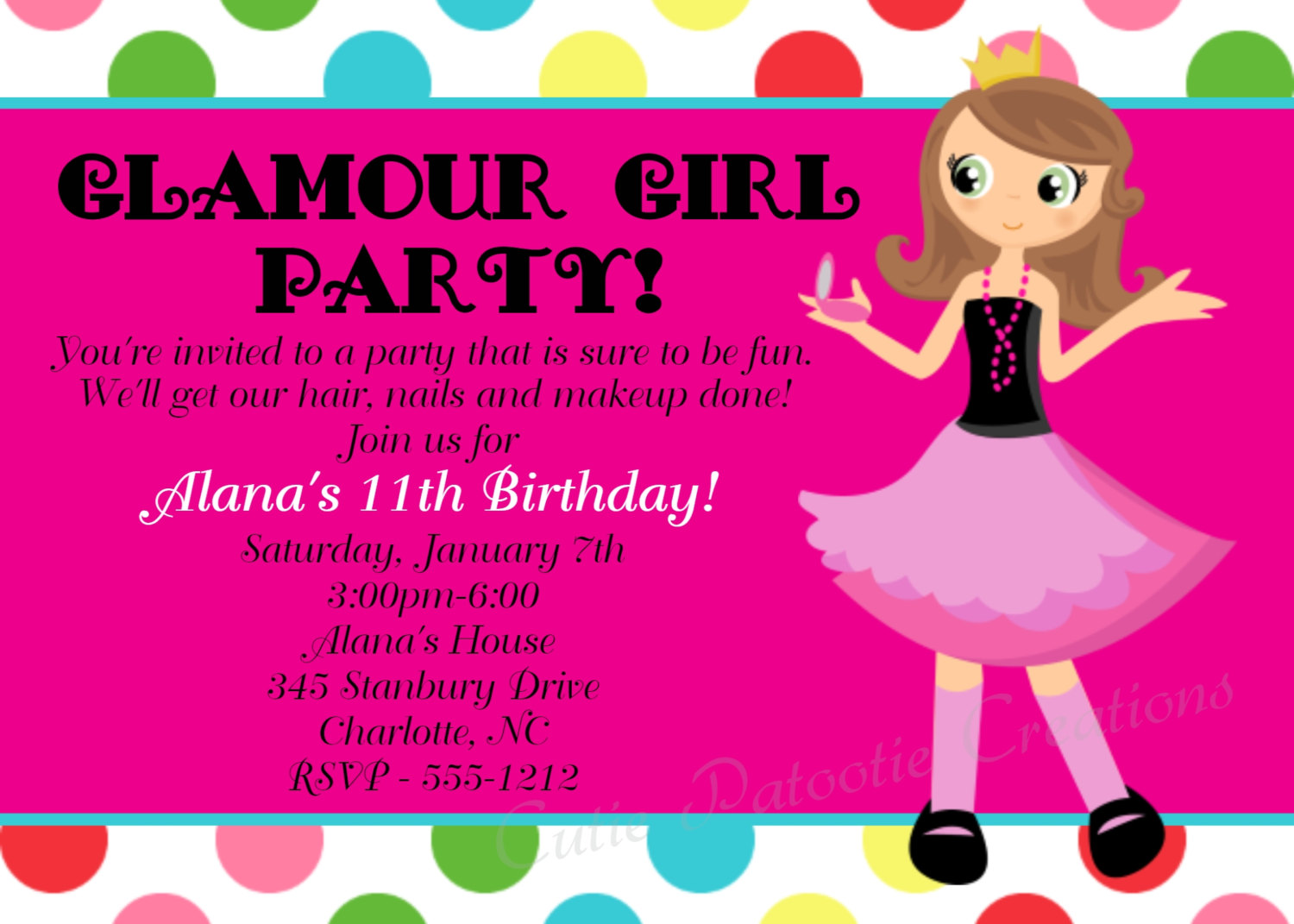birthday invitation card design for girls ; Captivating-Girl-Birthday-Invitations-As-Prepossessing-Ideas-Birthday-Invitation-Templates