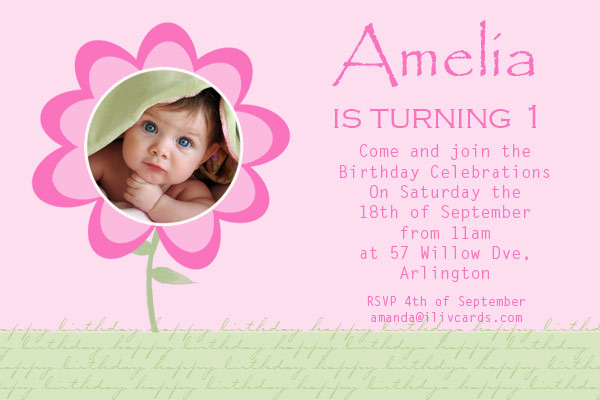 birthday invitation card design for girls ; GB27