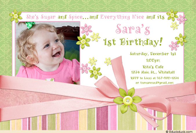 birthday invitation card design for girls ; Sugar-Spice-Girly-Green-1-photo-Birthday-card