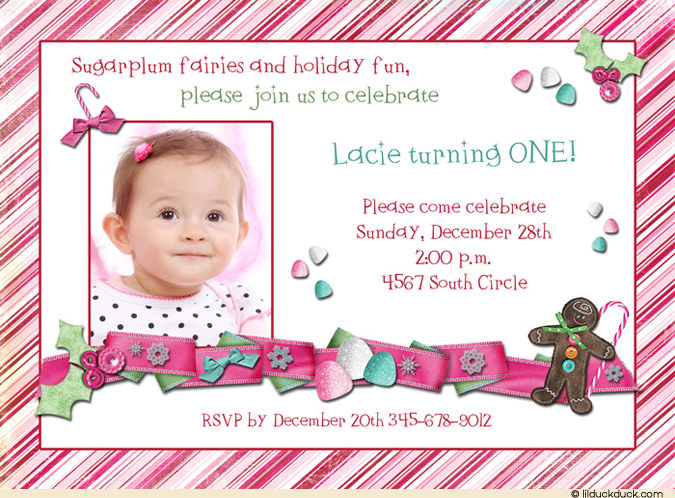 birthday invitation card design for girls ; Sugar-plum-Candy-Cane-Birthday-1-photo-invitation