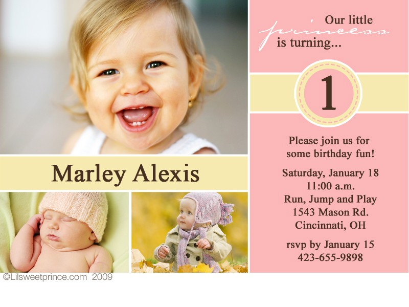 birthday invitation card design for girls ; baby-girl-1st-birthday-invitation-how-to-make-your-own-Birthday-invitations-using-word-3