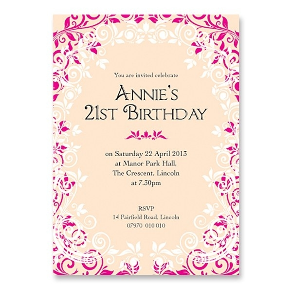 birthday invitation card design for girls ; girls-21st-birthday-invitation-girls-birthdays-pertaining-to-21st-birthday-invitation-card-design-for-girls