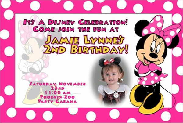 birthday invitation card template ; Minnie-Mouse-Birthday-Invitation-Card-Template