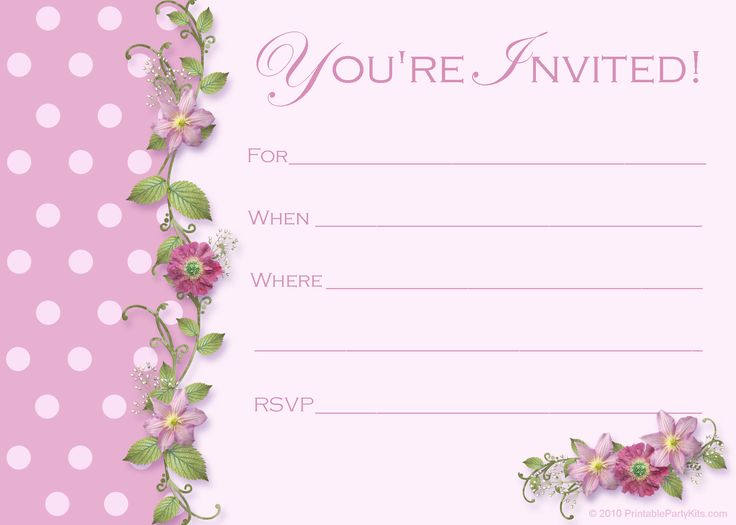 birthday invitation card template ; blank-invitation-cards-25-unique-free-birthday-invitation-templates-ideas-on-pinterest