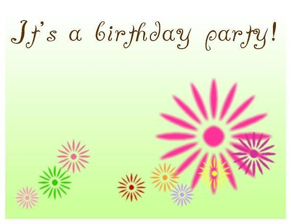 birthday invitation card template ; daisy-green-blank