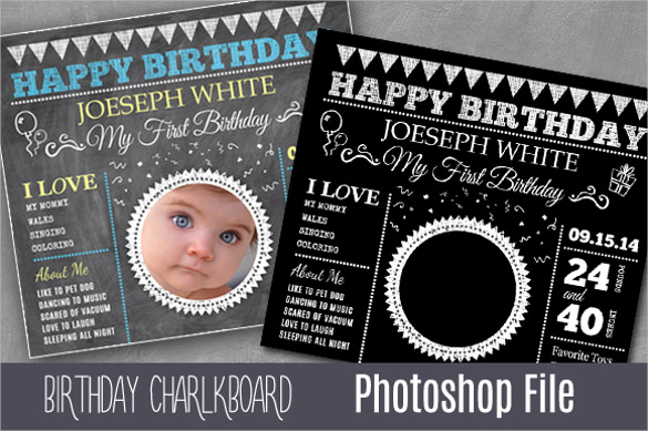 birthday invitation card template photoshop free ; Black-Colour-Baby-Child-personalized-Birthday-Party-Invitation-Card