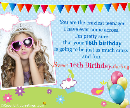 birthday invitation card with name and photo ; 16thbirthday-card2