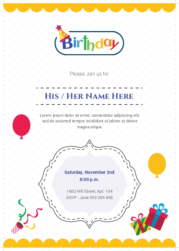 birthday invitation card with name and photo ; 90_75532_2