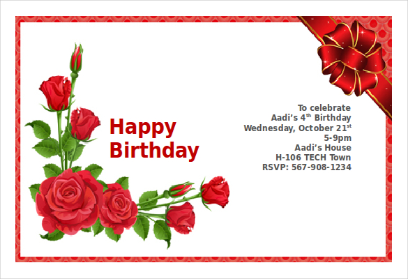 birthday invitation card with photo free ; Birthday-Invitation-Card-With-Flowers-Word-Format-Free-Template