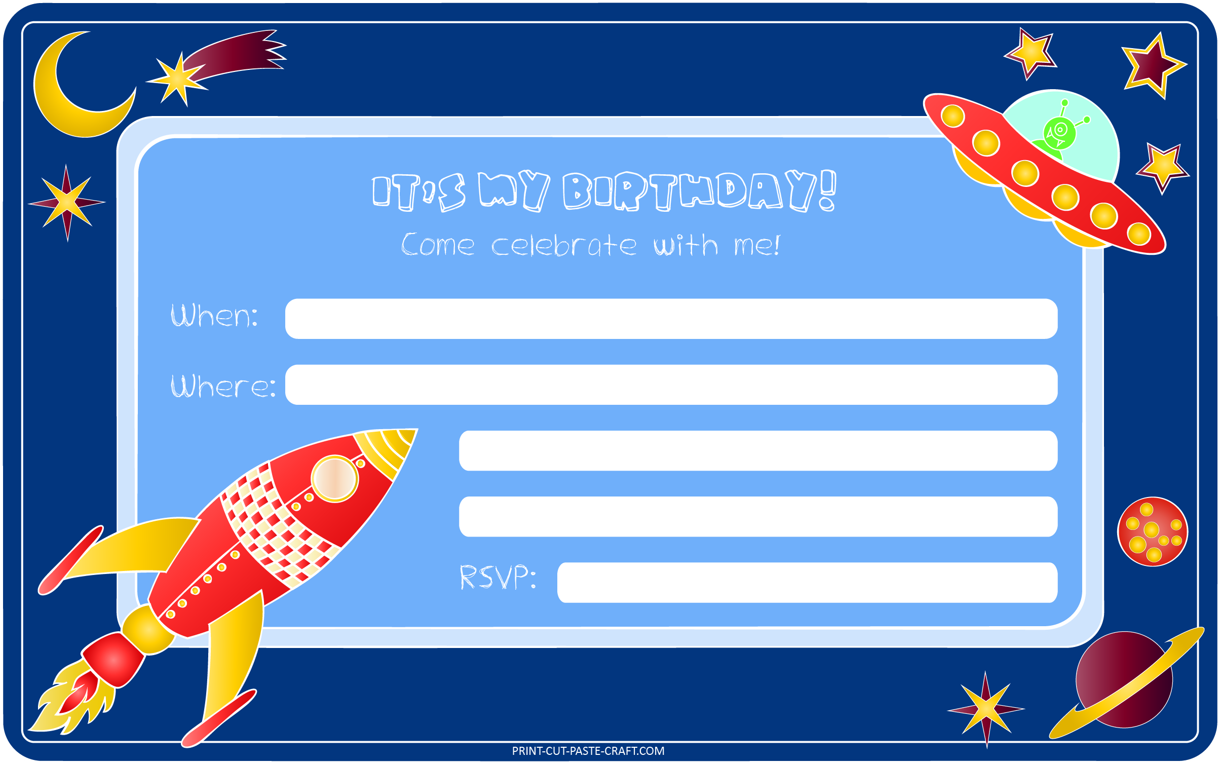 birthday invitation card with photo free ; free-birthday-cards-fmhrckaw-blue-background-design-rocket-planet-images-creations-style-unique-printable-birthday-invitation-cards