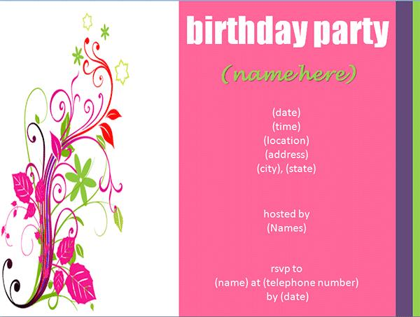 birthday invitation maker with photo ; birthday-party-invitation-maker-by-means-of-creating-alluring-outlooks-around-your-Birthday-Invitation-Templates-9