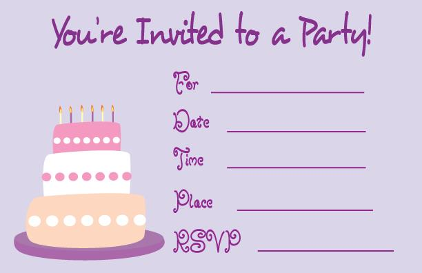 birthday invitation photo card ; beautiful-template-printable-birthday-invitation-cards-best-collection-purple-color-picture-clipart-decoration-layout-cake