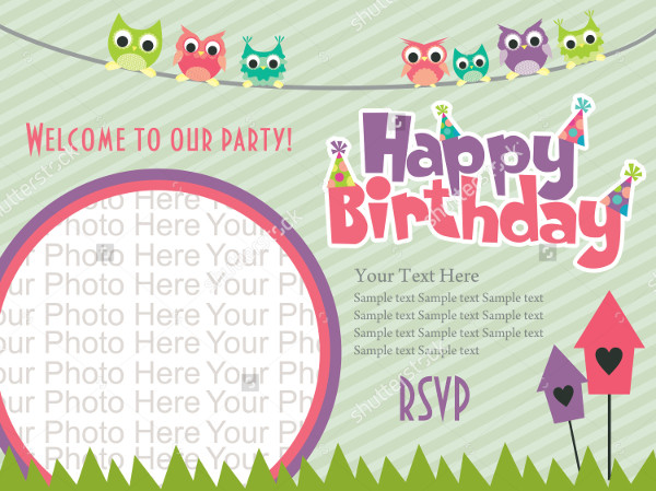 birthday invitation photoshop template ; Happy-Birthday-Invitation