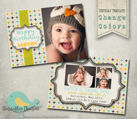 birthday invitation photoshop template ; il_570xN