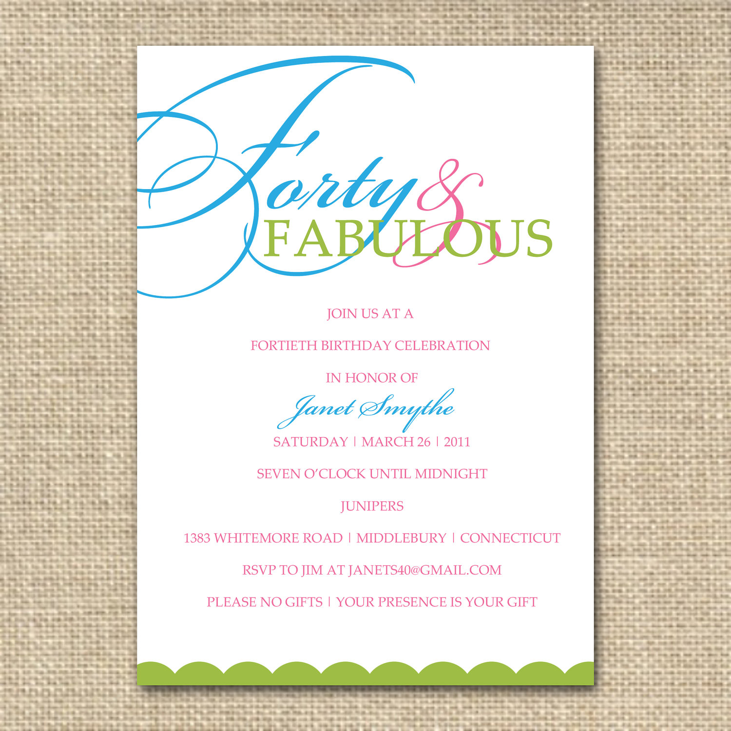 birthday invitation quotes ; 40th-birthday-invitation-wording-for-a-fetching-Birthday-invitation-design-with-fetching-layout-1