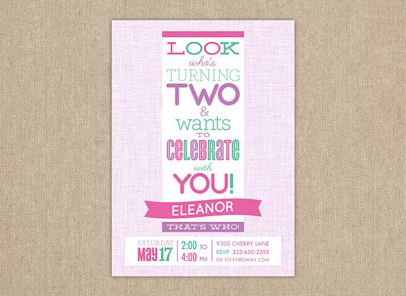 birthday invitation quotes for 2 year old ; il_570xN