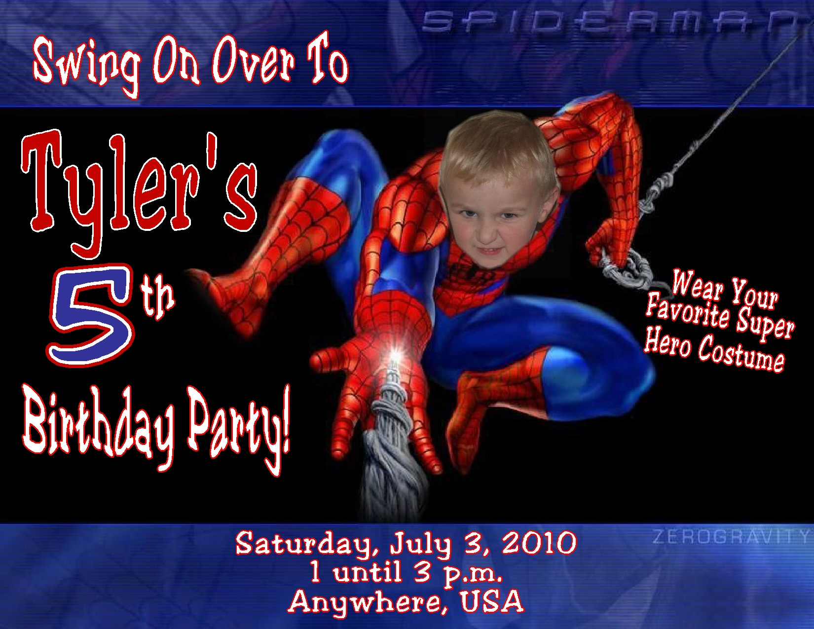birthday invitation spiderman theme ; Spiderman-Birthday-Invitations-With-Photo-and-get-inspired-to-create-your-own-birthday-Invitation-design-with-this-ideas-1