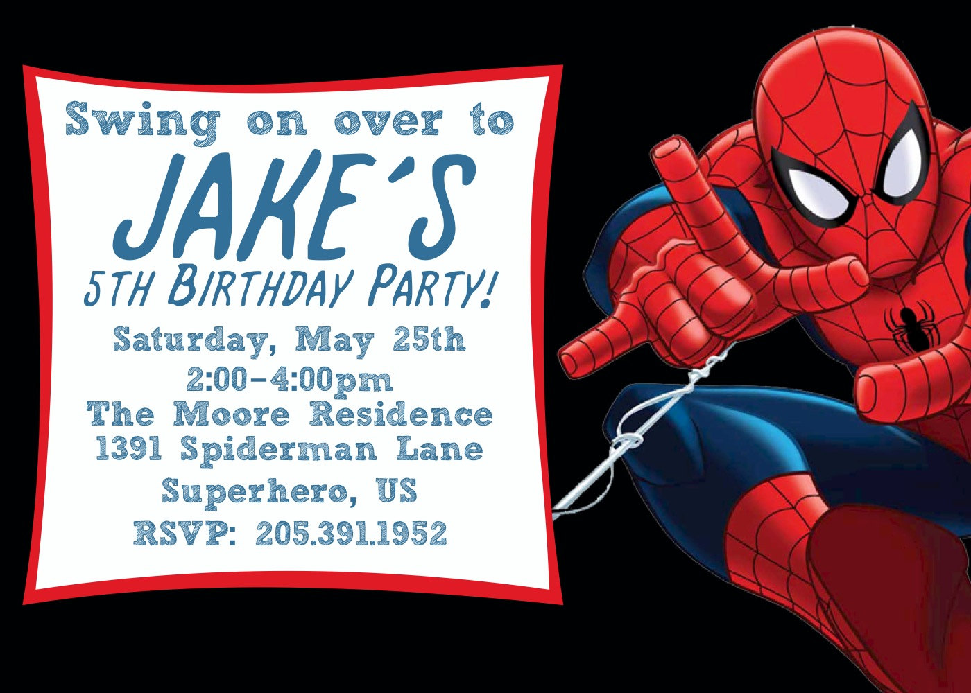 birthday invitation spiderman theme ; Spiderman-Birthday-Invitations-will-give-you-ideas-how-to-make-surprising-Birthday-invitation-1