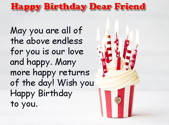 birthday message for a friend images ; Birthday-Wishes-for-Friend-Cake-Images-580x430