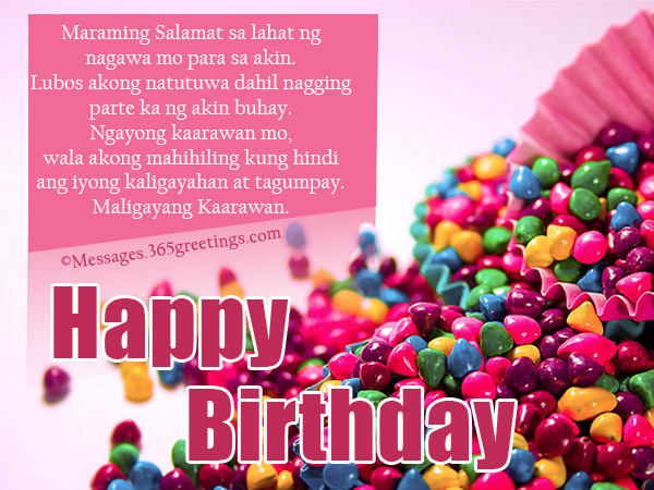 birthday message for a special friend tagalog ; 14036b87bba22729e8230a88cf32aedc