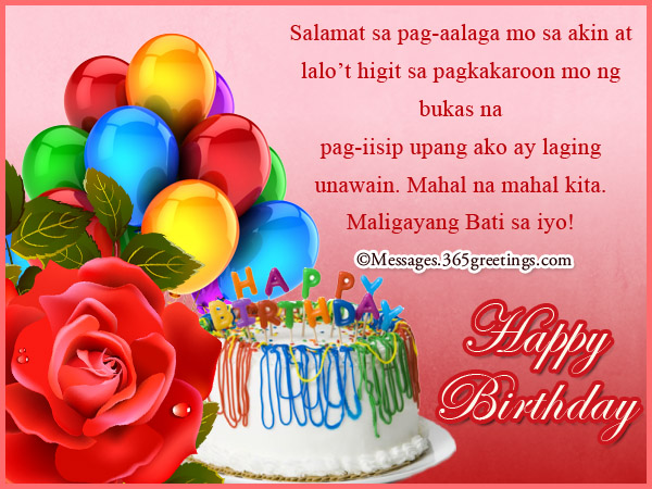 birthday message for debutant tagalog ; tagalog-birthday-wishes