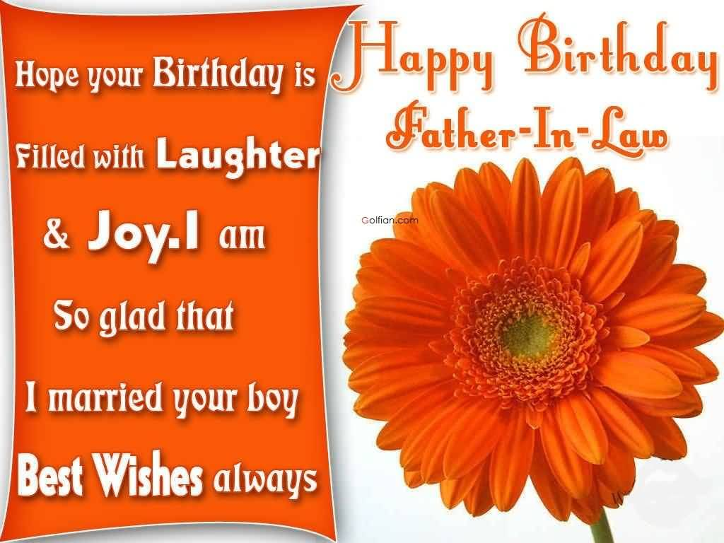 birthday message for father in law tagalog ; Beautiful-Orange-Flower-Birthday-Wishes-For-Father-In-Law-Greetings