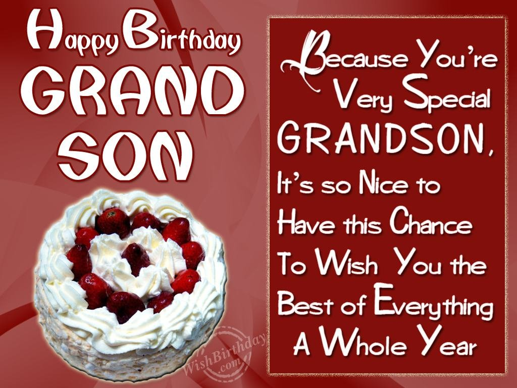 birthday message for grandson with images ; 1059