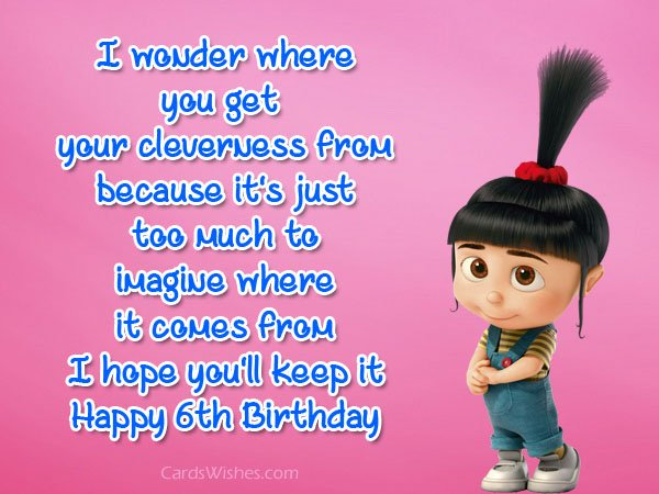 birthday message for my niece tagalog ; 6th-birthday-wishes