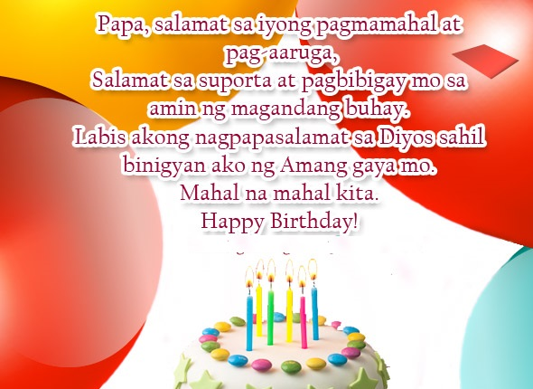 birthday message for my wife tagalog ; Birthday-Message-for-Father-from-Daughter-in-Tagalog