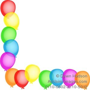 birthday party border clip art ; 0110-0902-2110-5012_birthday_party_balloon_page_corner_border