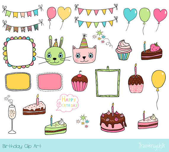 birthday party border clip art ; il_570xN