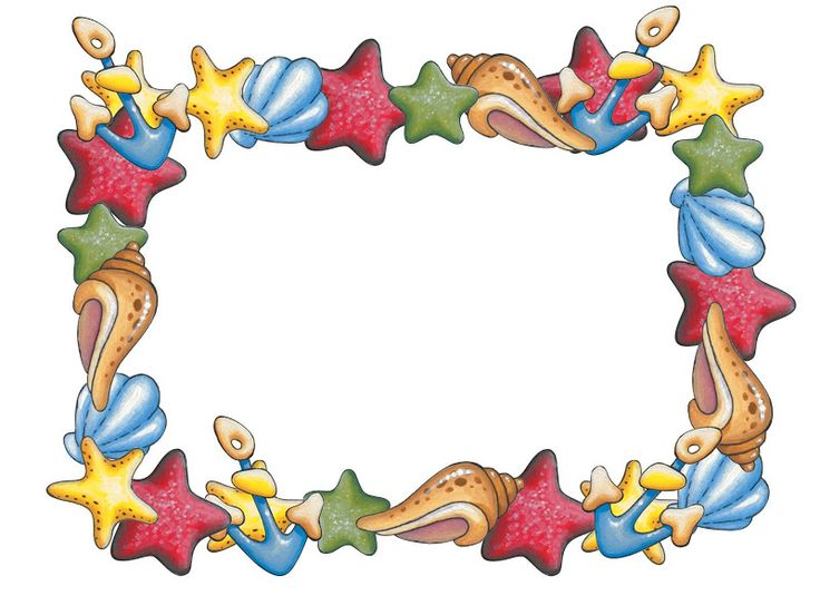 birthday party border clip art ; sea-border-clipart-1