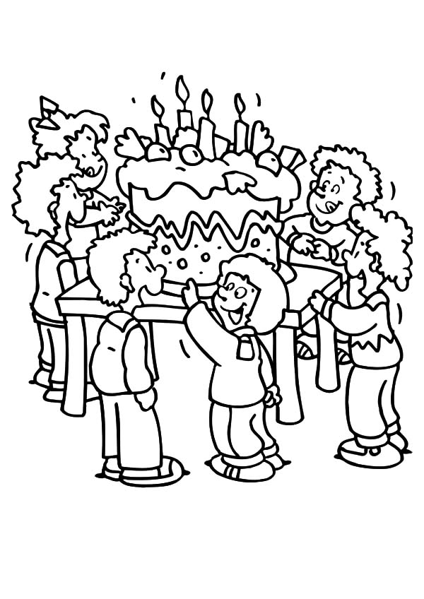 birthday party drawing pictures ; Giant-Birthday-Cake-for-Birthday-Party-Coloring-Pages
