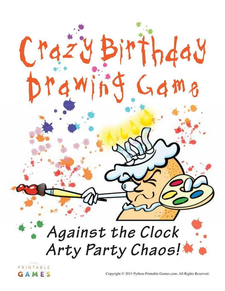 birthday party images for drawing ; 317506919