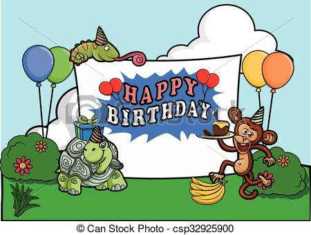 birthday party images for drawing ; birthday-party-celebration-at-park-vector-clipart_csp32925900