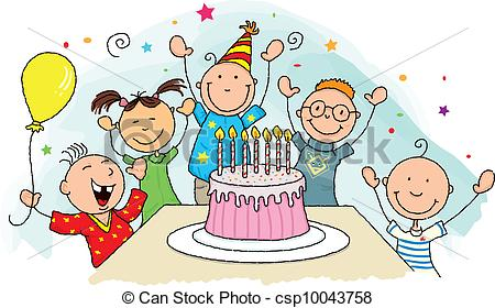 birthday party images for drawing ; birthday-party-clipart-vector_csp10043758