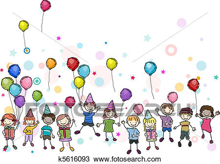 birthday party images for drawing ; birthday-party-drawing__k5616093
