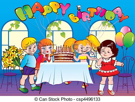 birthday party images for drawing ; happy-birthday-party-eps-vectors_csp4496133
