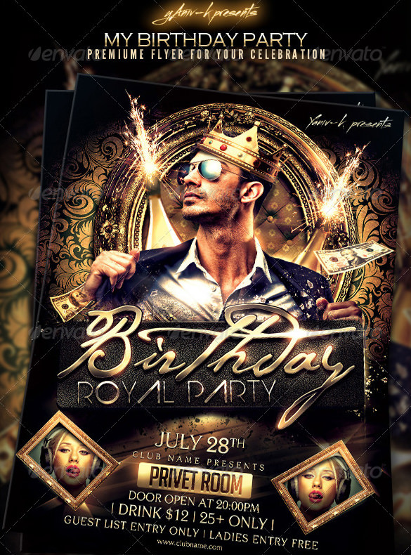 birthday party invitation template photoshop ; Birthday-Bachelor-Party-Invitation-Template-PSD-Design