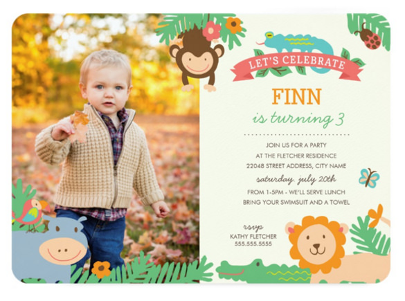 birthday party invitation template photoshop ; In-the-Jungle-Birthday-Party-Celebration-Invitation
