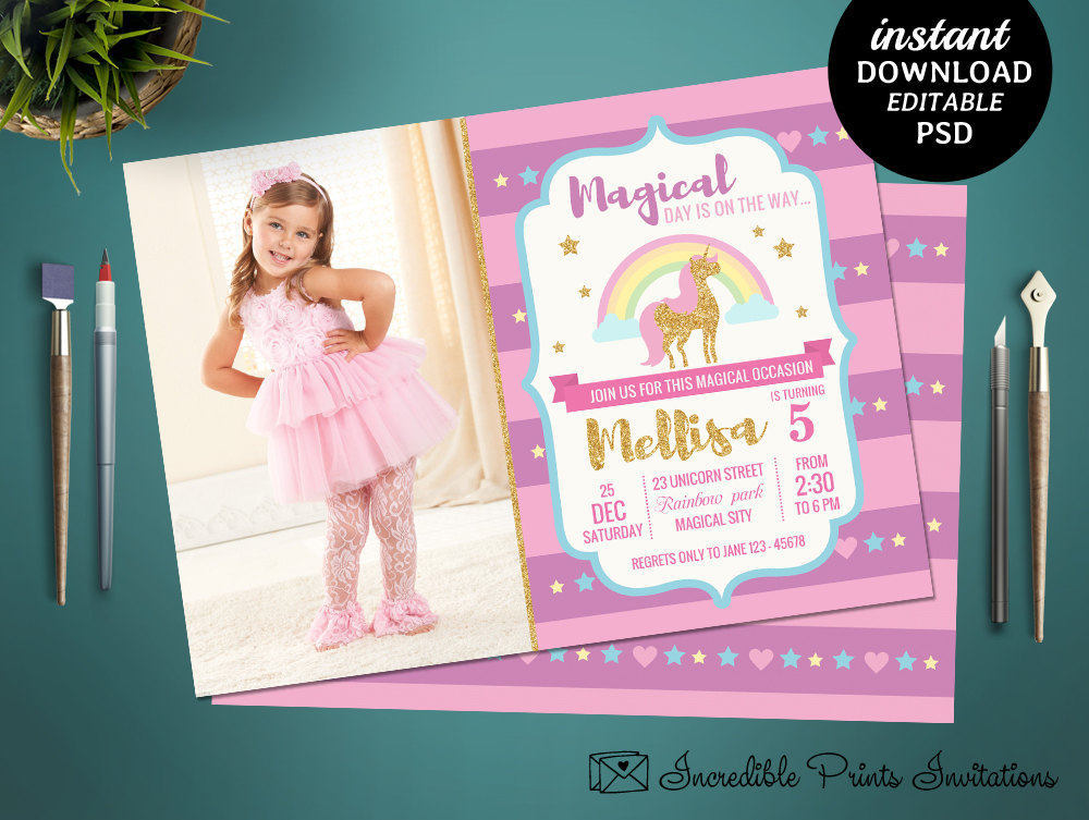birthday party invitation template photoshop ; eac714d43a552f6b21aad209bf01e547