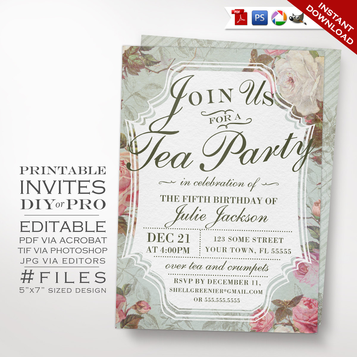 birthday party invitation template photoshop ; il_fullxfull