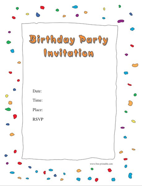 birthday party invitation template with photo ; Birthday-Invitation-Template-26