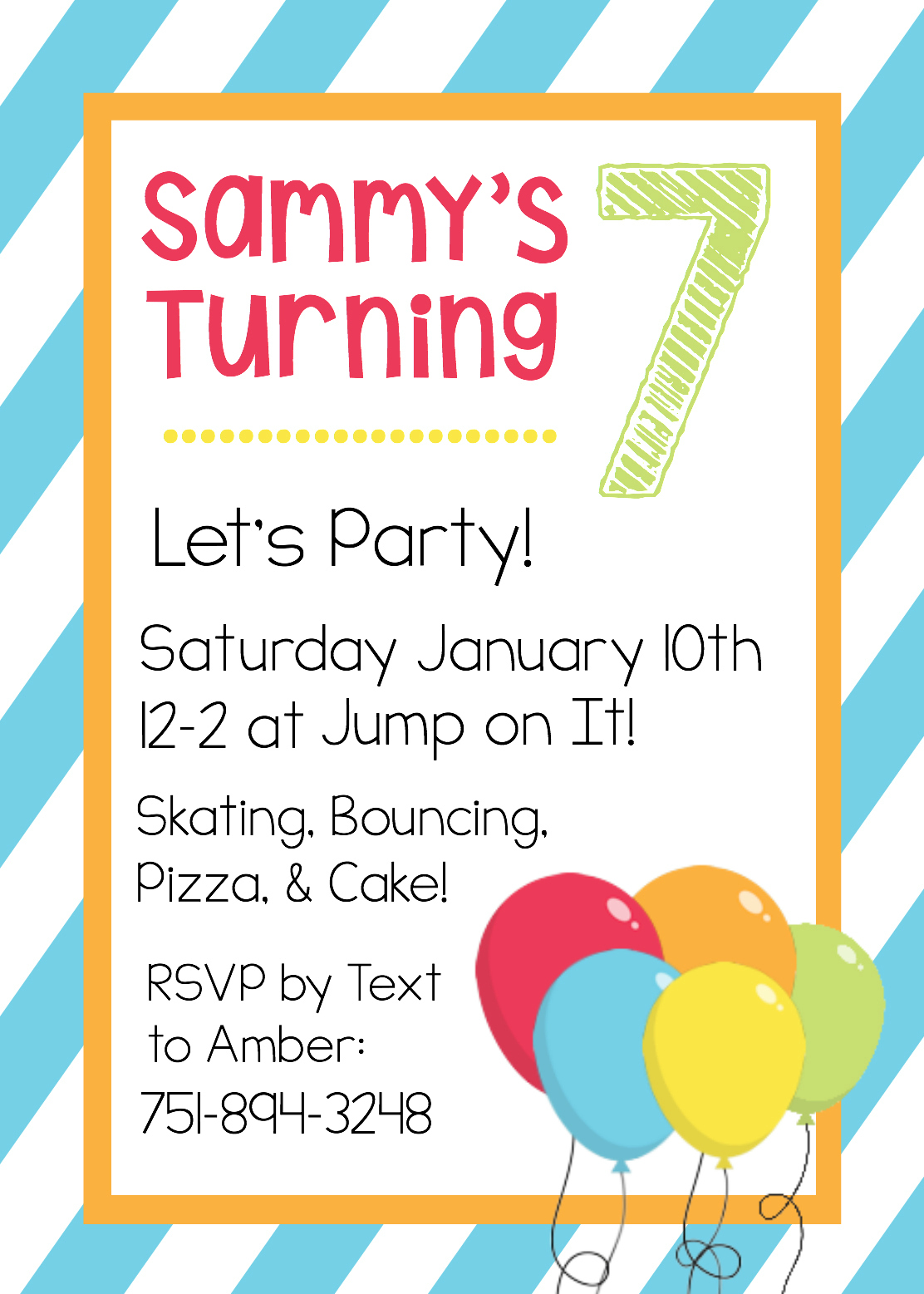 birthday party invitation template with photo ; BirthdaySampleInvitationTemplate